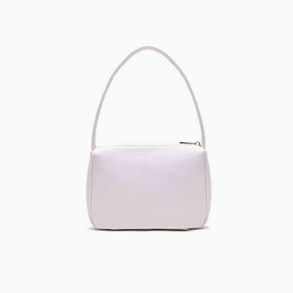 Mini shoulder bag in cream