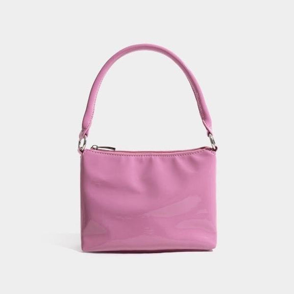 Vinyl pink shoulder bag - CURATED by FS