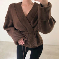 Wrap ribbed cardigan (2 colors)