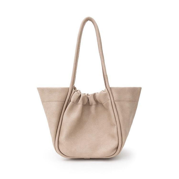 Dumpling shopper in beige - CURATED by FS