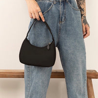 Nylon hobo shoulder bag in black - CURATED by FS