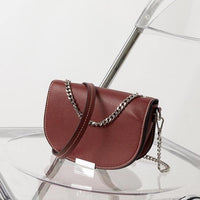 Saddle crossbody bag with chain - CURATED by FS