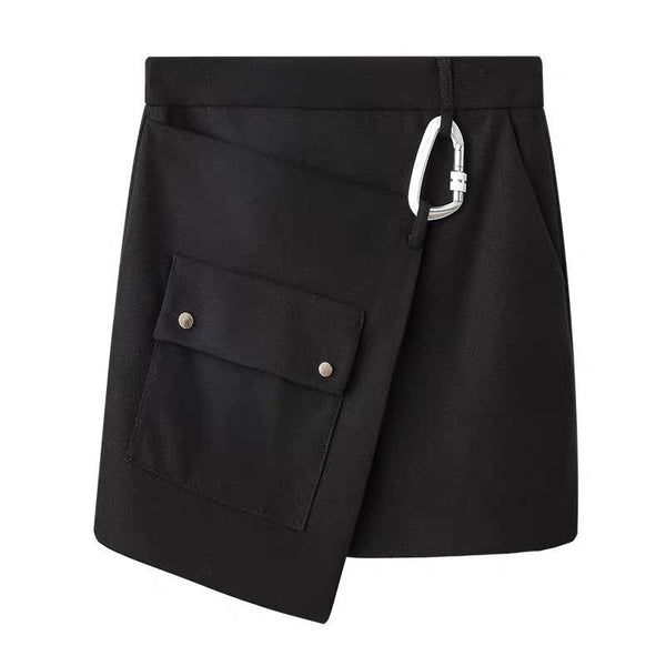 Skirt with D-ring buckle - CURATED by FS