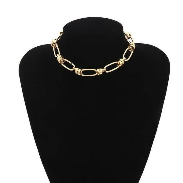 Chunky chain choker in gold tone - CURATED by FS