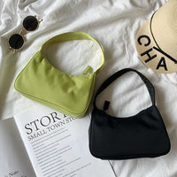 Nylon hobo bag in lime green - CURATED by FS