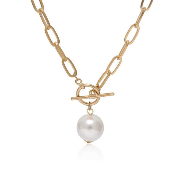Baroque pearl pendant necklace - CURATED by FS