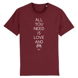 T-Shirt - All you need is Love and a Video Games - Unisexe - Coton Bio - Cadeau Original - Cadeau Personnalisable - Cadeaux-Positifs.com -XS-Bordeaux-