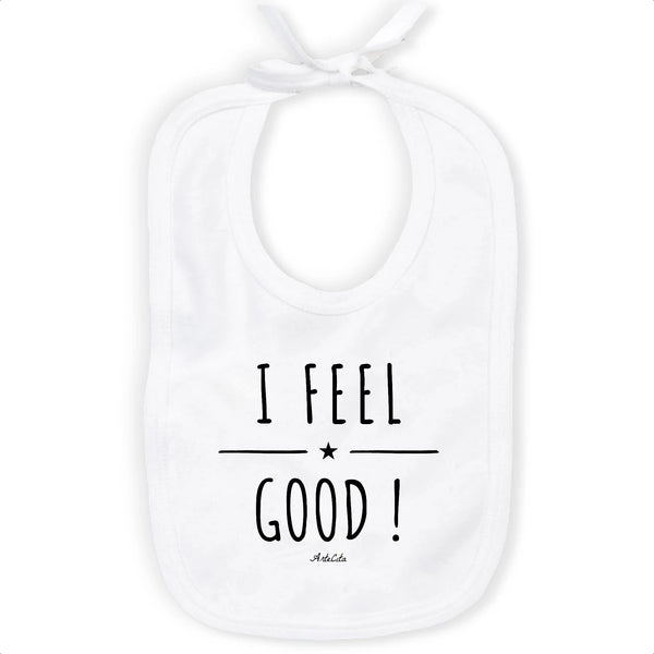 Bavoir Imprimé - I Feel Good ! - 100% Coton Bio- Green Dressing - Mode Ethique