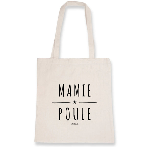 Tote Bag - Mamie Poule - 100% Coton Bio- Green Dressing - Mode Ethique