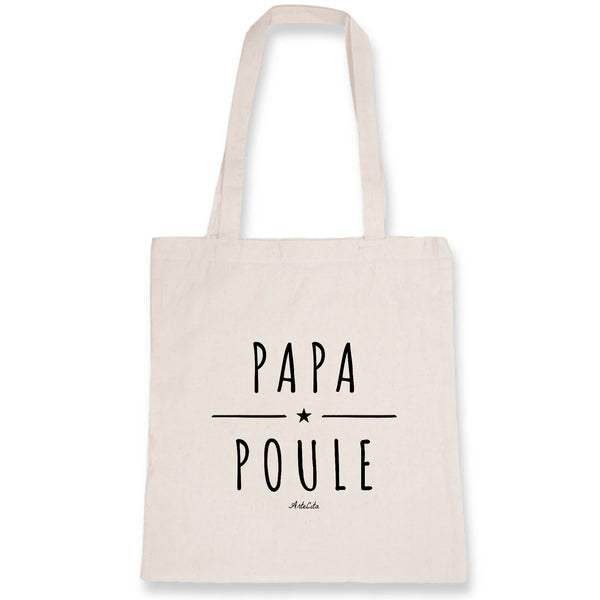 Tote Bag - Papa Poule - 100% Coton Bio- Green Dressing - Mode Ethique