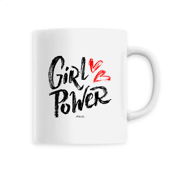 Mug - Girl Power (Coeur) - Céramique Premium - 6 Coloris- Green Dressing - Mode Ethique