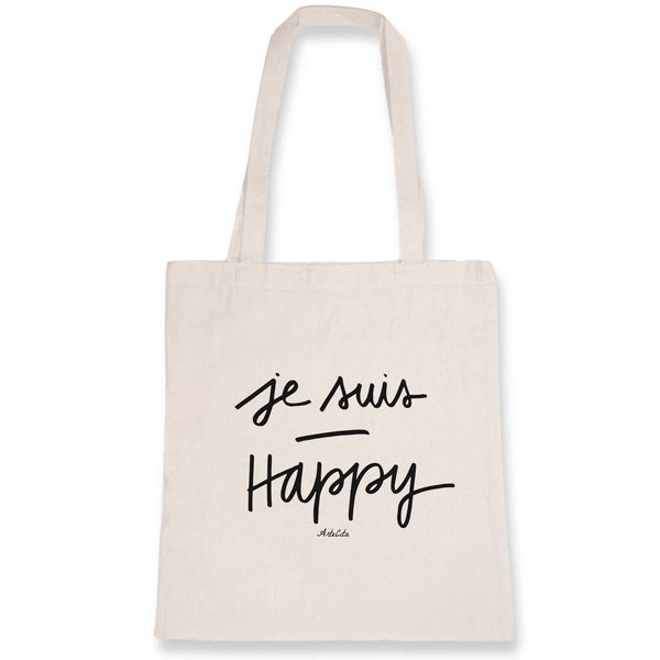 Tote Bag - Je Suis Happy - 100% Coton Bio- Green Dressing - Mode Ethique