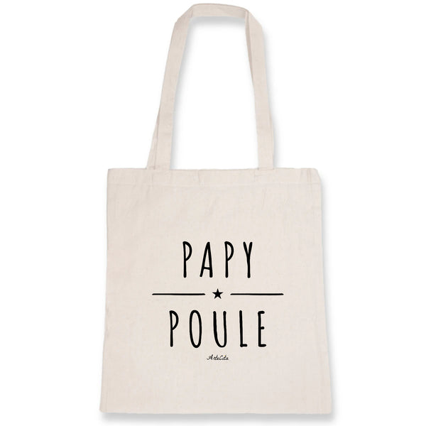 Tote Bag - Papy Poule - 100% Coton Bio- Green Dressing - Mode Ethique
