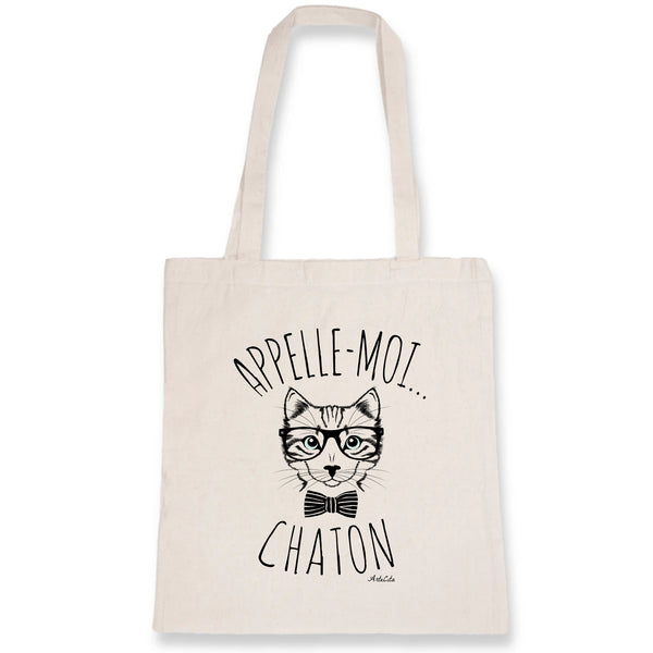 Tote Bag - Appelle-moi Chaton - 100% Coton Bio- Green Dressing - Mode Ethique