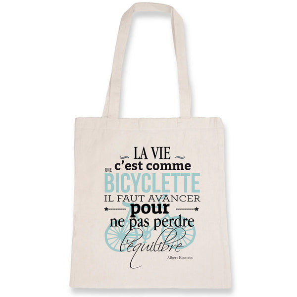 Tote Bag - Citation Albert Einstein - 100% Coton Bio- Green Dressing - Mode Ethique