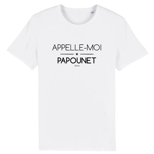 T-Shirt - Appelle-moi Papounet - Coton Bio - 5 Coloris- Green Dressing - Mode Ethique