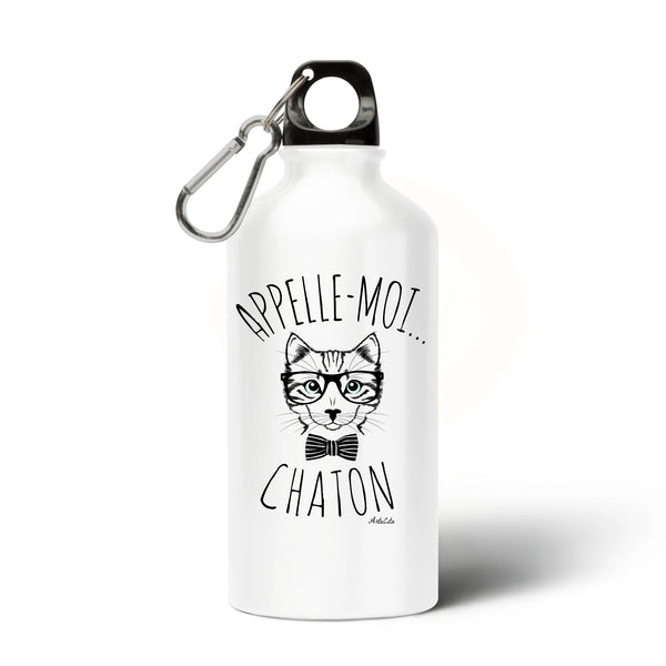 Gourde - Appelle-moi Chaton - Aluminium sans BPA- Green Dressing - Mode Ethique