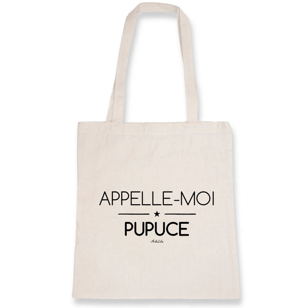 Tote Bag - Appelle-moi Pupuce - 100% Coton Bio- Green Dressing - Mode Ethique
