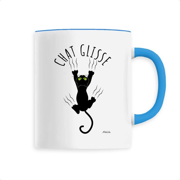 Mug - Chat Glisse - Céramique Premium - 6 Coloris- Green Dressing - Mode Ethique