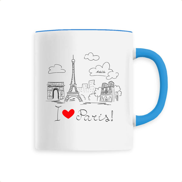 Mug - I Love Paris ! - Céramique Premium - 6 Coloris- Green Dressing - Mode Ethique