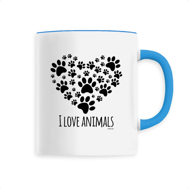 Mug - I Love Animals - Céramique Premium - 6 Coloris- Green Dressing - Mode Ethique