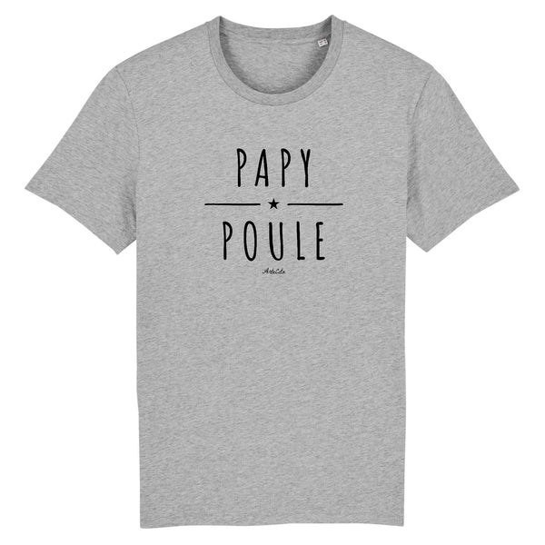 T-Shirt - Papy Poule - Coton Bio - 2 Coloris- Green Dressing - Mode Ethique