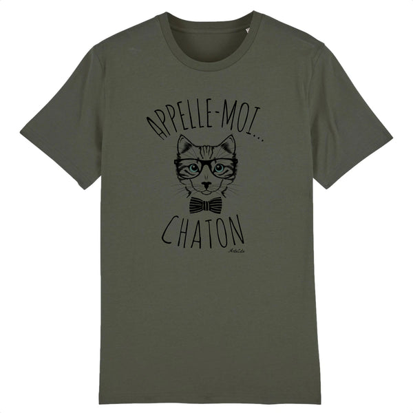 T-Shirt - Appelle-moi Chaton - Coton Bio - Unisexe - 5 Coloris- Green Dressing - Mode Ethique