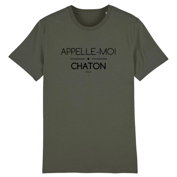 T-Shirt - Appelle-moi Chaton (phrase) - Coton Bio - Unisexe - 5 Coloris- Green Dressing - Mode Ethique