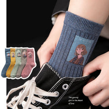 Load image into Gallery viewer, Cotton Women Long Socks 2019 Autumn Breathable Deodorant Winter New Cute Cartoon Fashion Brief Wild Trend Motion Socks Women
