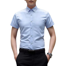 Load image into Gallery viewer, LITTHING Male White Camicas Men Spring Long Sleeve Shirts Turndown Collar Mens Blouses Korean Slim Fit Solid Business Tops