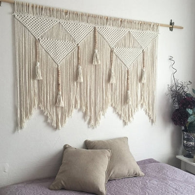 Macrame Wall Hanging Handwoven Bohemian Cotton Rope Boho Tapestry Home Decor
