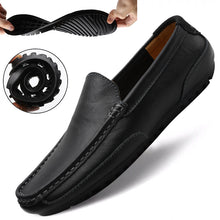 Load image into Gallery viewer, Genuine Leather Men Casual Shoes Brand 2020 Italian Men Loafers Moccasins Breathable Slip on Black Driving Shoes Plus Size 37-47