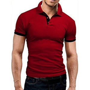 Fashion Mens Polo Shirt 2019 New Summer Shorts Sleeve Turn-over Collar Slim Tops Casual Breathable Solid Color Business Shirt