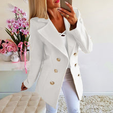 Load image into Gallery viewer, Spring Ladies Blazers 2019 Fashion Double Breasted Slim Blazer Women Suit Jacket Pink Female Plus Size Blazer Femme Formal