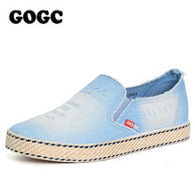 Load image into Gallery viewer, GOGC Women Sneakers Fashion Breathble Vulcanize Flats shoes 2019 Loafers Slip on Flat Shoes Ballet Flats Comfortable Ladies shoe