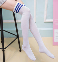 Load image into Gallery viewer, Sexy Socks Striped Long Socks Women Long Stockings Warm Thigh High Socks For Ladies Girls New Fashion Striped Knee Socks Women