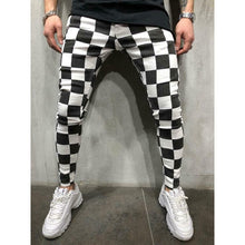 Load image into Gallery viewer, Cool Men's Fashion Slim Jogger Skinny Pencil Pants Comfortable Striped Plaid Hip Hop Casual Pants S-XXL