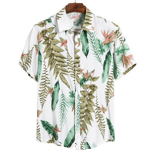 JODIMITTY 2020 New Arrival Men's Shirts Men Hawaiian Camicias Casual One Button Wild Shirts Printed Short-sleeve Blouses Tops