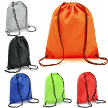 Load image into Gallery viewer, NEW String Drawstring Back Pack Cinch Sack Gym Tote Bag School Sport Shoe Bag