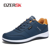 Load image into Gallery viewer, OZERSK Men Sneakers Fashion Men Casual Shoes Leather Breathable Man Shoes Lightweight Male Shoes Adult Tenis Zapatos Krasovki