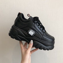 Load image into Gallery viewer, Hight Increase Ulzzang Women Casual Shoes Woman Sneakers Platform Wedges High Heels Flats Loafers Ladies Creepers Trainers