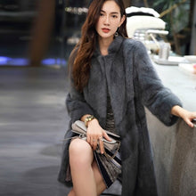Load image into Gallery viewer, Natural Mink Fur Coat Winter Warm Thick Long Double Faced Fur Jacket Casaca Para Mujer Invierno 2020 AR16D16015 MF376