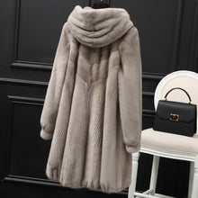 Load image into Gallery viewer, Mink Real Natural Fur Coat Female Luxury Fur Coats Winter Jacket Women Hooded Korean Jackets for Women Warm Overcoat MY s s