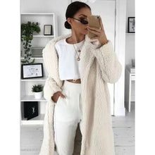 Load image into Gallery viewer, Autumn Winter Coat Women 2019 Casual Loose Solid Long Teddy Coat Female Vintage Plus Size Thick Faux Fur Jackets Coats White 5XL