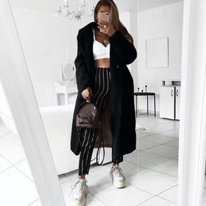 Autumn Winter Coat Women 2019 Casual Loose Solid Long Teddy Coat Female Vintage Plus Size Thick Faux Fur Jackets Coats White 5XL