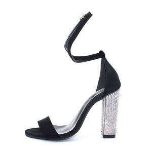 Sexy High Heels Women Pumps Gold Rhinestone Heels Ladies Shoes Classic Pumps Plus Size 35-43 Shoes Women Buckle Strap Sandals