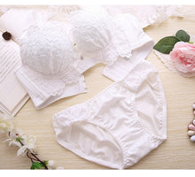 Load image into Gallery viewer, Push Up Bra Set Sexy Lingerie Underwear Women Panties And Bralette Underclothes Female Underwear  Embroidery Cotton Bralet Set