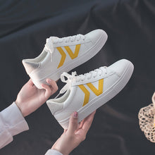 Load image into Gallery viewer, HOT Women Sneakers 2020 Fashion Breathble Vulcanized Shoes Women Pu leather Platform Shoes Women Lace up Casual Shoes White