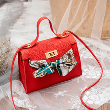 Load image into Gallery viewer, Mara's Dream 2019 New Solid Color Lychee Pattern Scarf Pouch Shoulder Diagonal Bag Handbag