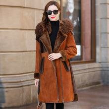 Load image into Gallery viewer, Faced Double Luxury Fur Coat 2020 Winter Coat Women Natural Wool Fur Jacket Women Mink Fur Genuine Sheepskin Coat MY4568